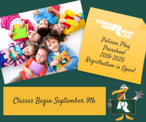 Preschool begins September 9, 2019