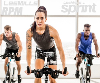 Spin Class riding bikes